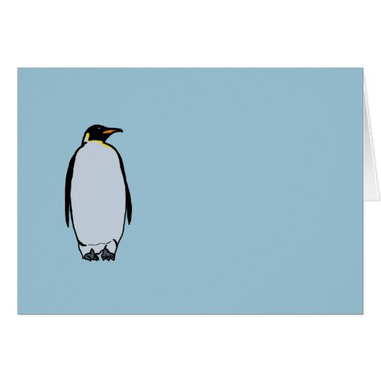 Solitary Penguin Blank Inside Note Card