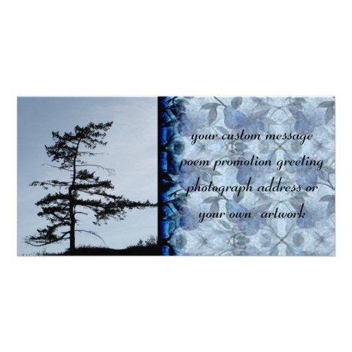 Solitary Survivor Tree Photo Greeting Card