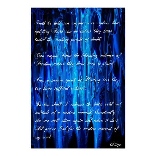 Solitude-A Winter's Moment of the Soul©King09 Poster