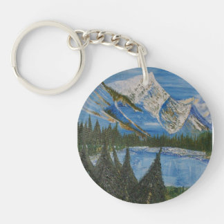 Solitude Single-Sided Round Acrylic Key Ring
