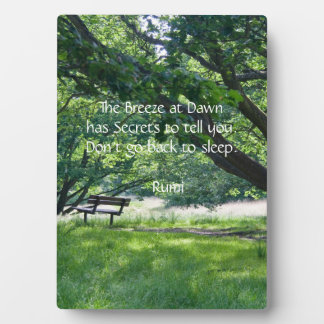 Solitude Photo Plaque
