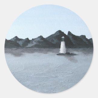 Solitude Round Sticker