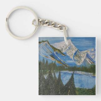 Solitude Single-Sided Square Acrylic Key Ring