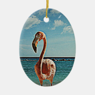 Solo flamingo vintage photo HFPHOT71 Christmas Ornament