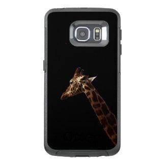 Solo Giraffe On Black, OtterBox Samsung Galaxy S6 Edge Case