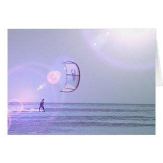 Solo Kiteboard Greeting Card