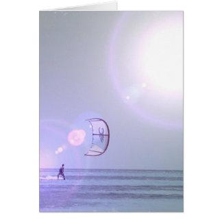 Solo Kiteboard Greeting Card