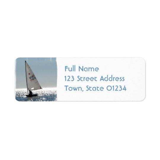 Solo Sail Mailing Label Return Address Label