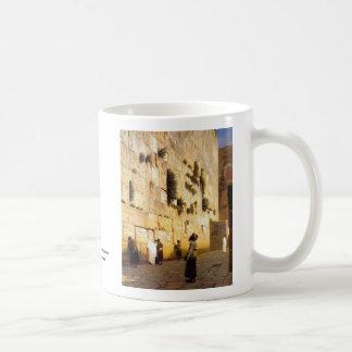 Soloman's Wall Jerusalem, Jean-Leon Gerome Basic White Mug