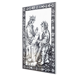 Solomon and Marcoul, illustration from Gallery Wrapped Canvas