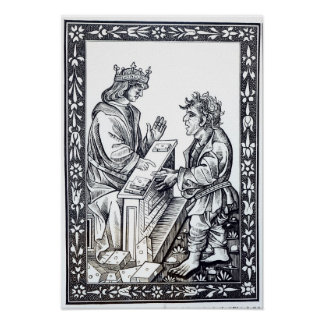 Solomon and Marcoul, illustration from Poster