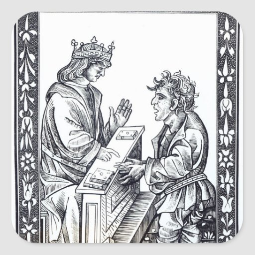 Solomon and Marcoul, illustration from Square Stickers