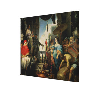 Solomon and the Queen of Sheba Canvas Print