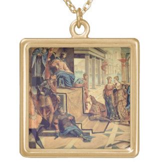 Solomon and the Queen of Sheba Gold Plated Necklace