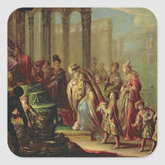Solomon and the Queen of Sheba, or Esther before A Square Sticker