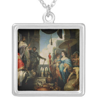 Solomon and the Queen of Sheba Silver Plated Necklace