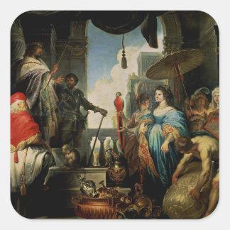 Solomon and the Queen of Sheba Square Sticker