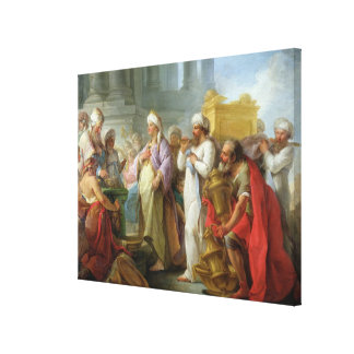 Solomon Before the Ark of the Covenant, 1747 Canvas Print