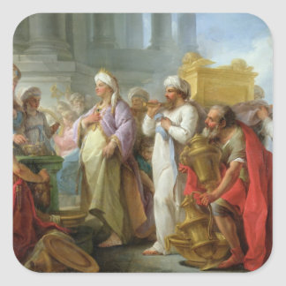 Solomon Before the Ark of the Covenant, 1747 Square Sticker