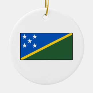 Solomon Islands Flag Christmas Tree Ornaments