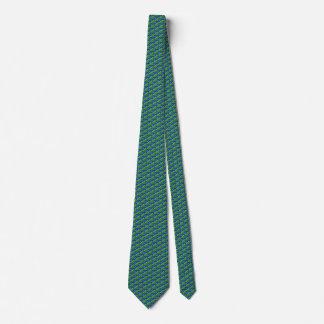 Solomon Islands Flag Honeycomb Tie