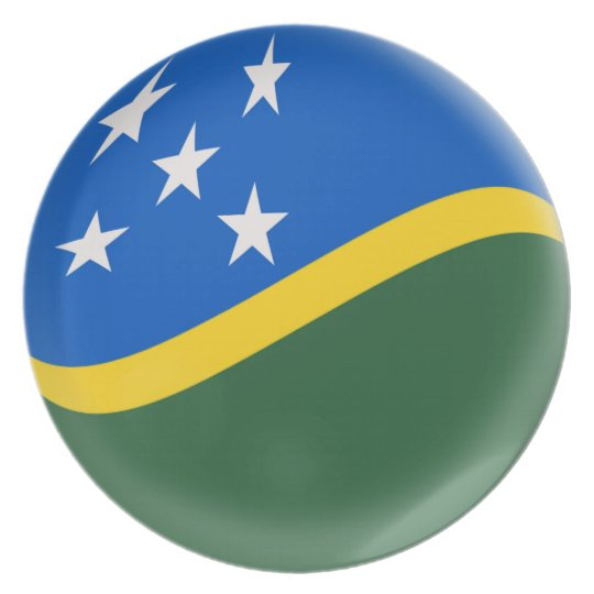Solomon Islands Flag Plate