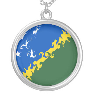 Solomon Islands Gnarly Flag Personalized Necklace