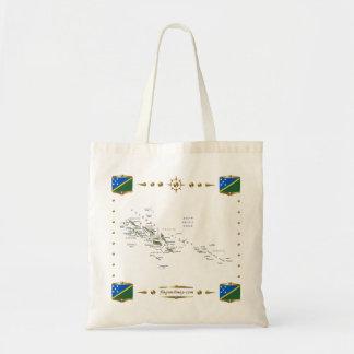 Solomon Islands Map + Flags Bag