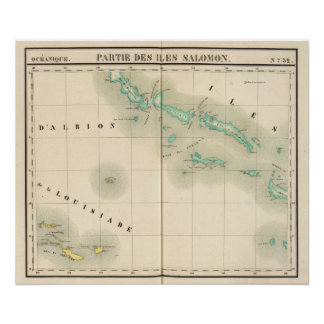 Solomon Islands Oceania no 32 Poster