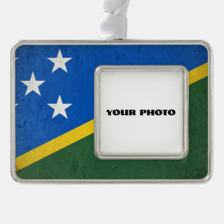 Solomon Islands Silver Plated Framed Ornament