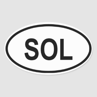 """Solomon Islands """"SOL"""" Oval Sticker"""
