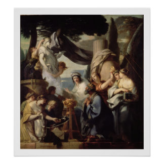 Solomon making a sacrifice to the idols poster