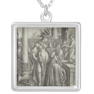 Solomon Prays in front of a Graven Image, c.1514 Silver Plated Necklace