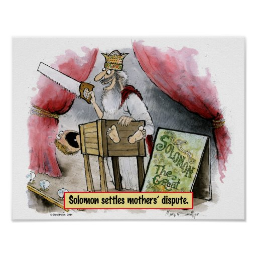 Solomon Settles Mothers' Dispute Art Poster