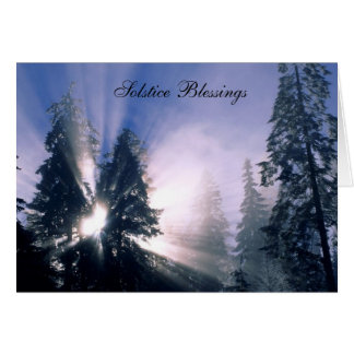 Solstice Blessings Greeting Card
