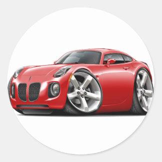 Solstice Red Car Round Sticker