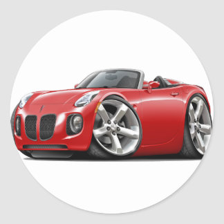 Solstice Red Convertible Classic Round Sticker