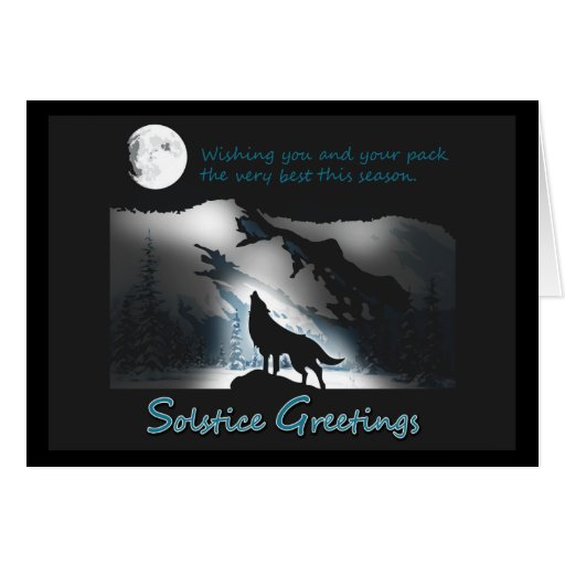 Solstice Wolf Cards