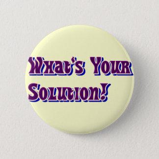 Solution!_Button 6 Cm Round Badge