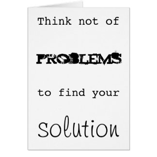 Solutions Note Card