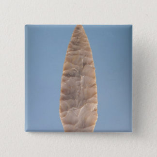 Solutrean 'laurel leaf' blade, found at Volgu, 15 Cm Square Badge