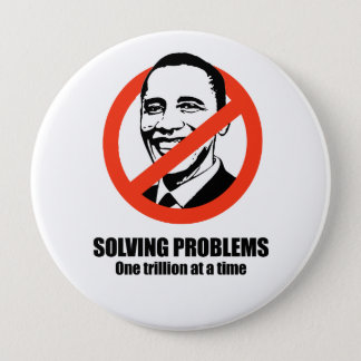 Solving problems, one trillion at a time 10 cm round badge