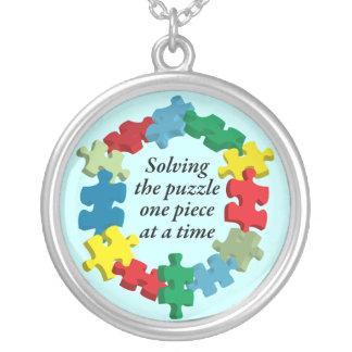 Solving the Puzzle...Lt. Blue Necklace