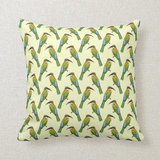 Somali Bee-eater Tropical Bird Pattern Cushion