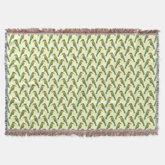 Somali Bee-eater Vintage Bird Pattern Throw Blanket
