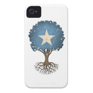 Somali Flag Tree of Life Customizable iPhone 4 Case-Mate Cases