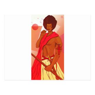 Somali Warrior Warranleh Postcard