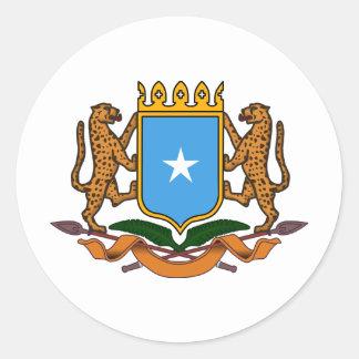 Somalia coat of arms round sticker