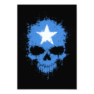 Somalia Dripping Splatter Skull 9 Cm X 13 Cm Invitation Card