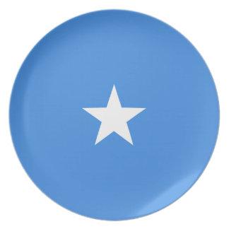 Somalia Fisheye Flag Plate